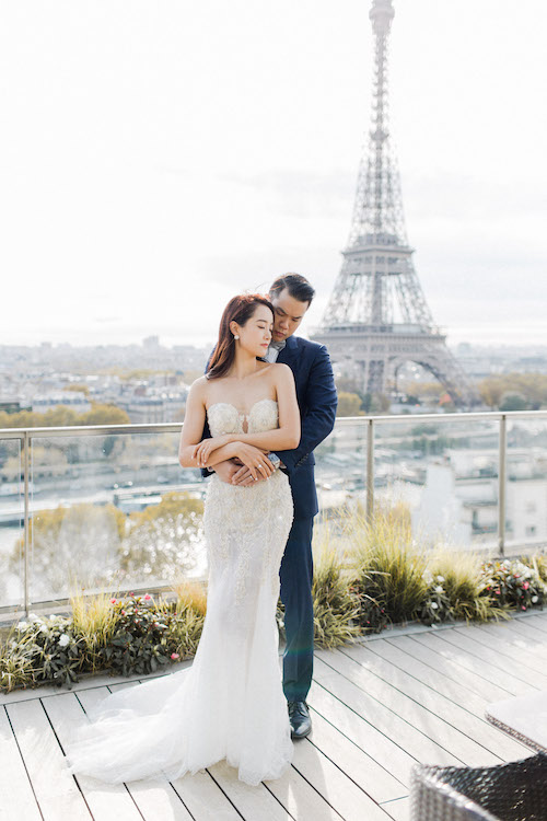 michelle yuan paris engagement shoot